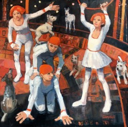 Circus Team by Scottish artist Catriona Campbell