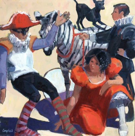 Circus Folk by Scottish artist Catriona Campbell