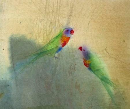 Rainbow Lorikeets by Claire Harkess RSW