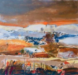 Sundown Kinross by Scottish artist Christine Woodside RSW RGI