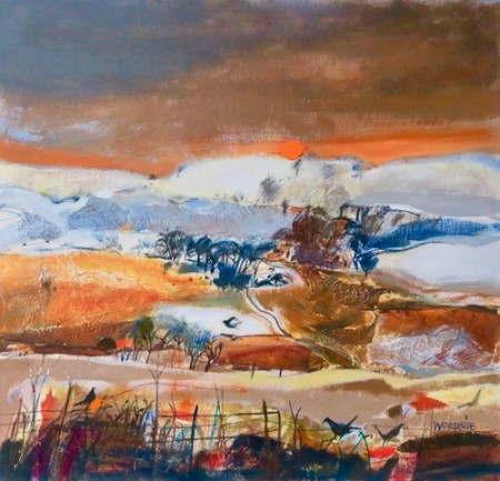 Sundown Kinross by Scottish artist Christine Woodside RSW RGI