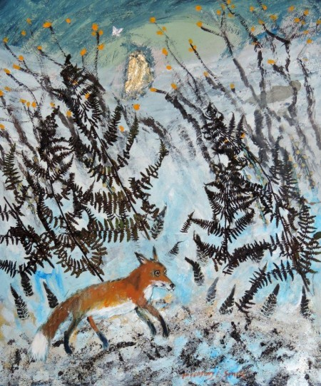 Fox in the Winter Woods by Ingebjorg Smith