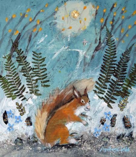 Violet Squirrel by Ingebjorg Smith