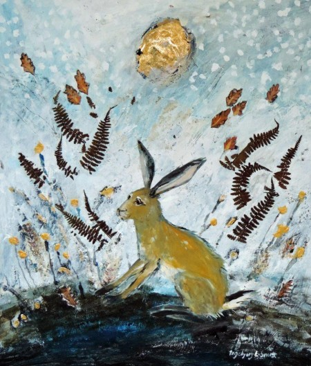 Winter Moon Hare by Ingebjorg Smith