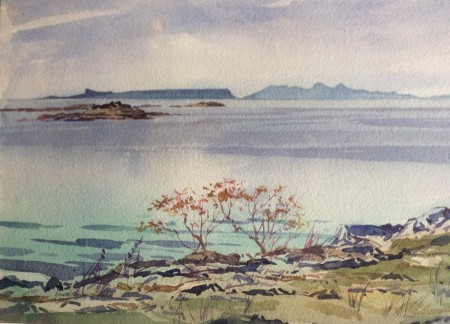 Autumn Peace, Eigg and Rum by Donald Murray