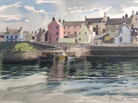 Portsoy Reflections by Donald Murray