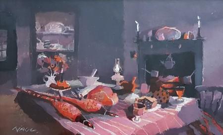 The Weaver's Table of Plenty by Hazel Nagl RSW RGI PAI