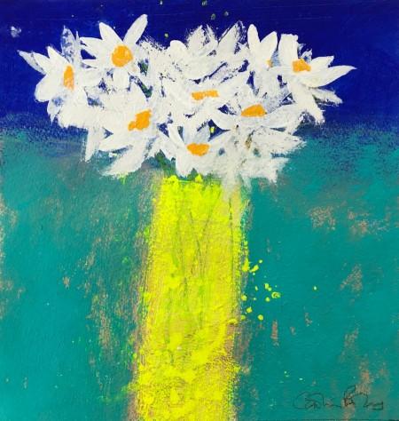 White Daisies by Caroline Bailey RSW