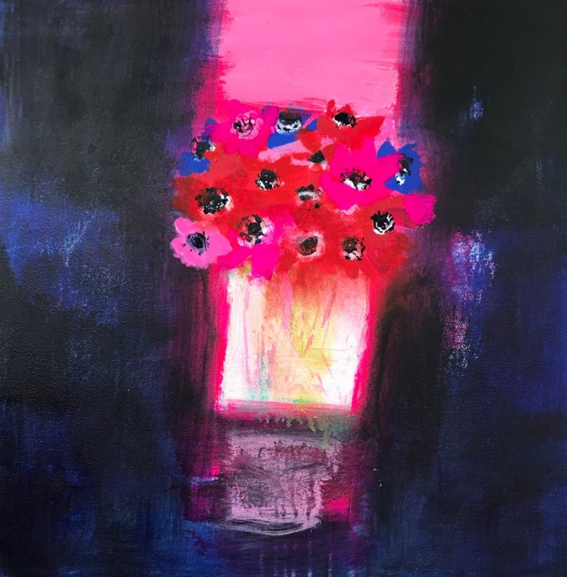Sunset Anemones by Caroline Bailey RSW