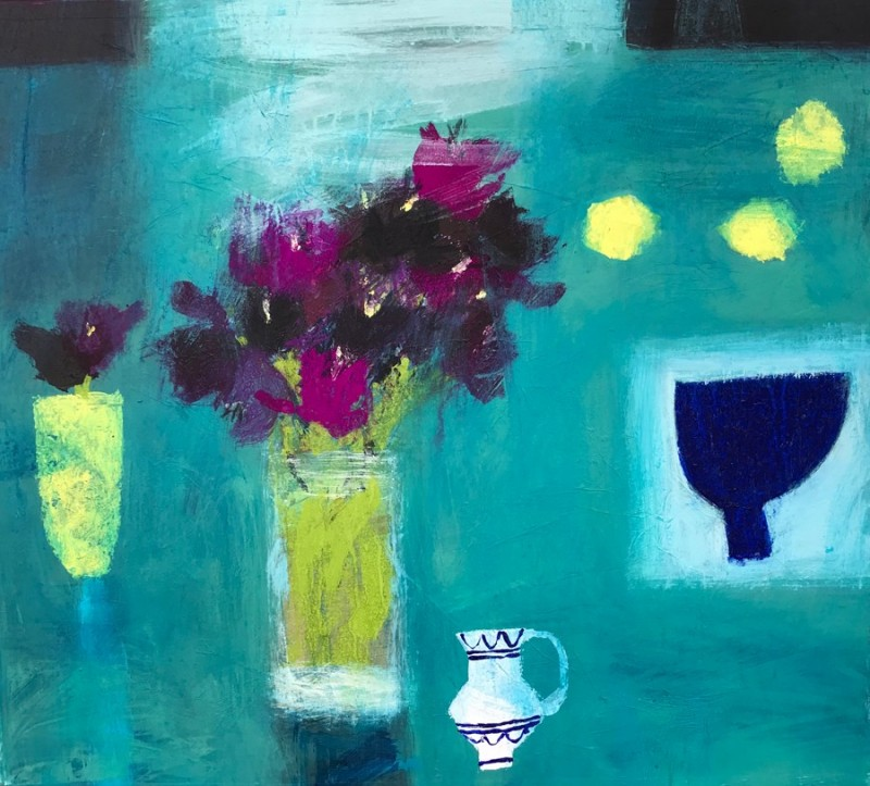 Still Life on Sea Green by Caroline Bailey RSW