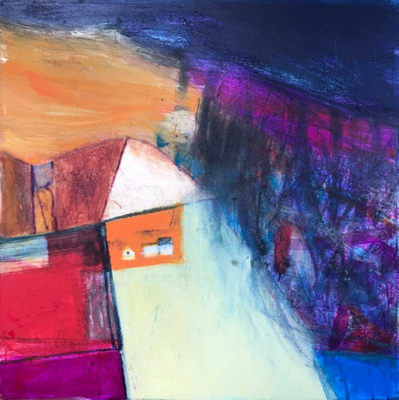Croft on the Hillside by Caroline Bailey RSW