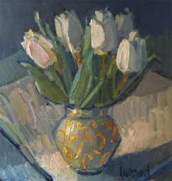 White Tulips by Marion Drummond