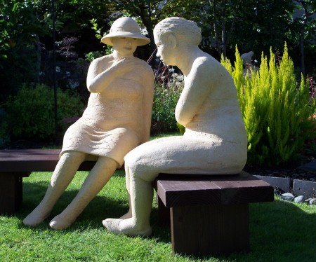 The Gossip by Illona Morrice