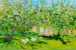 Beehives in the Orchard by James Harrigan