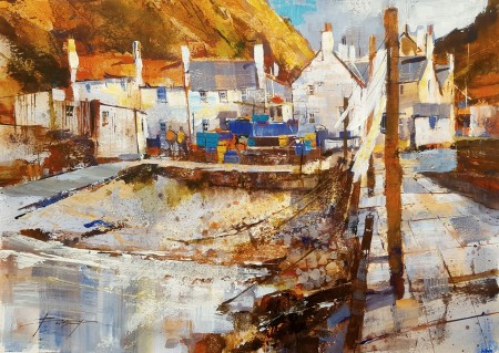 Breeze and Sunshine, Pennan by Chris Forsey RI