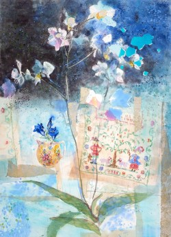 Evening Orchid With Sampler by Jenny Matthews