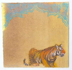 Tiger Trace iii by Scottish artist Claire Harkess