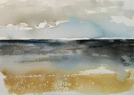 Alone on a Sandy Shore