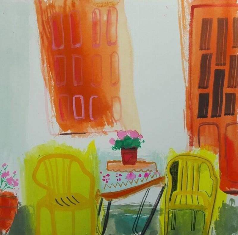 Sunshine Yellow Chairs