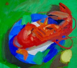 Lobster For Lunch - Jacqueline Orr RSW RGI PAI