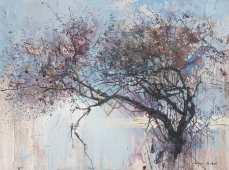 Hawthorn and a Lace Of Light, Holy Island by Pascale Rentsch