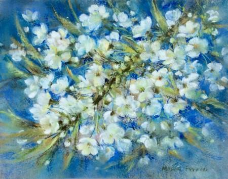 Wild Cherry Blossom by Moira Ferrier RSW