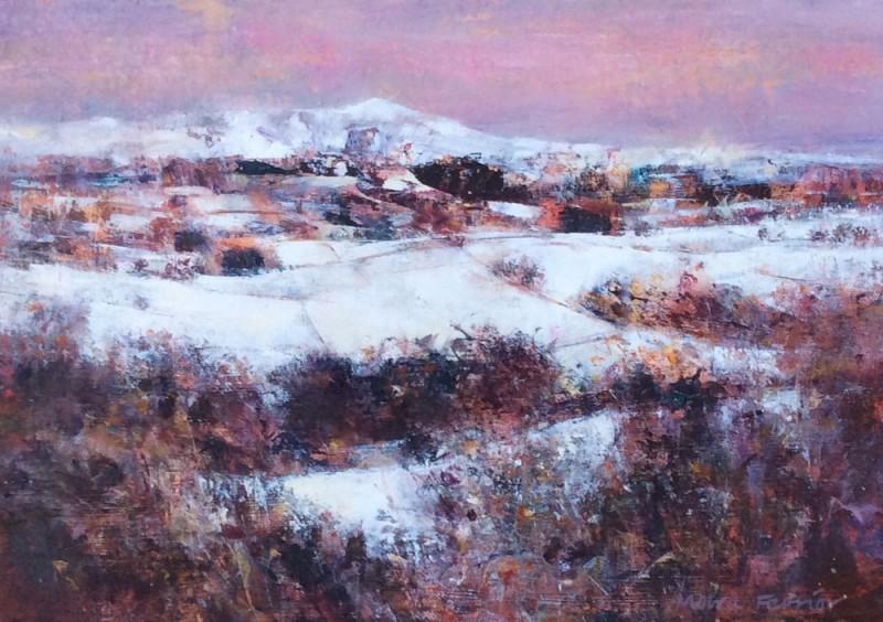 Pink Winter Sky by Moira Ferrier RSW