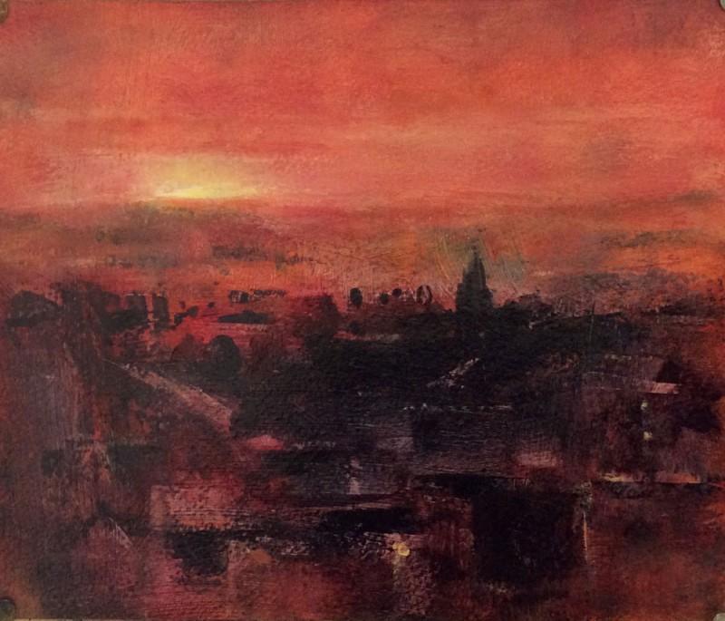 Red Morning Sky by Moira Ferrier RSW