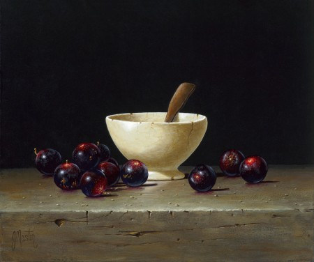 Muscadines Around a Bowl by Ian Mastin