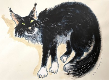 Lucky Black Cat by Mick Manning