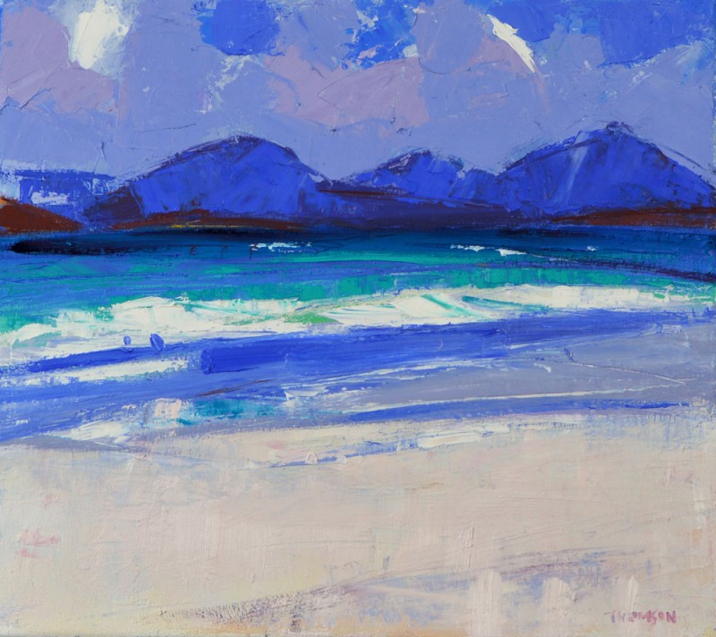Wild Day Luskentyre by Marion Thomson