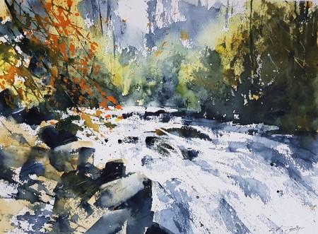 Tumbling Waters by Chris Forsey RI