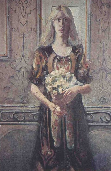 Girl with Flowers - Des Gorman