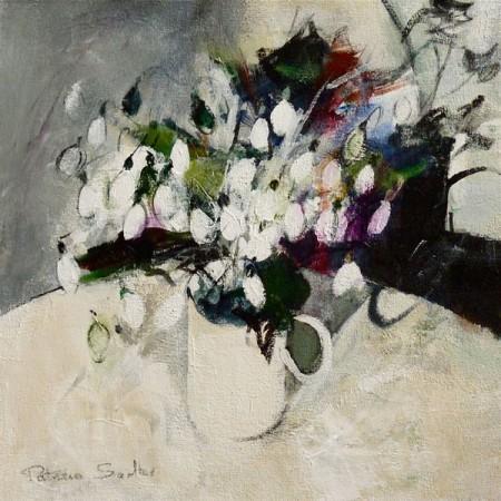 Snowdrops in a White Jug - Patricia Sadler