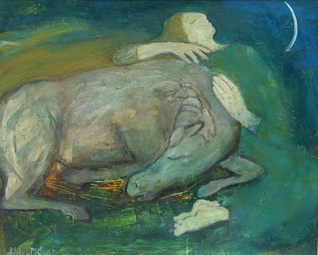 Girl with a Sleeping Horse