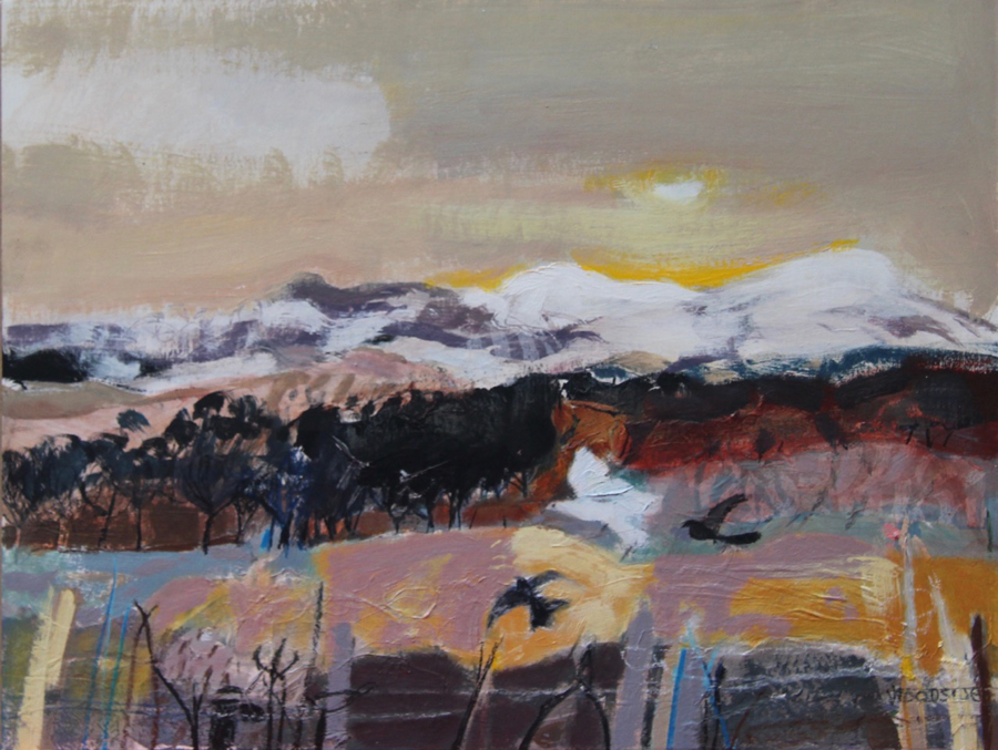 Flight, Perthshire by Christine Woodside RSW RGI
