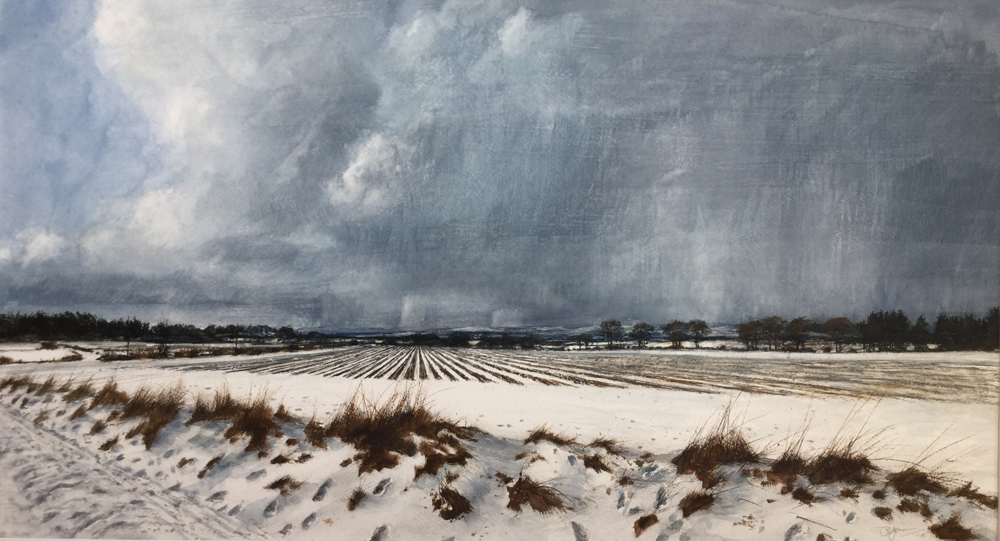 Snowcvlouds Over the Grampians by David E Johnston