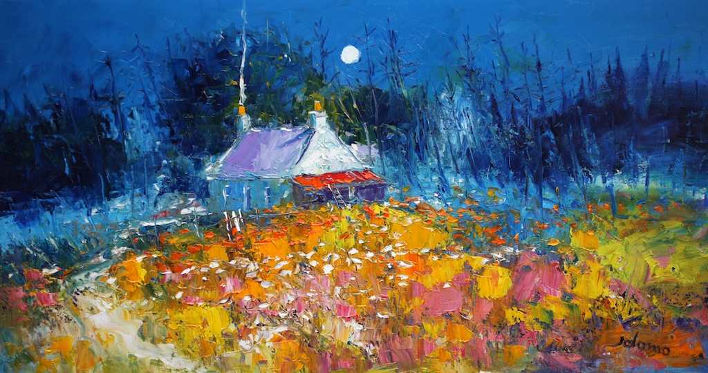 "Early Morninglight Isle Of Mull  John Lowrie Morrison OBE  16"" x 30"" oil on canvas"