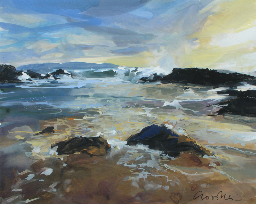 Busy Waves, Tangy Kintyre — original painting by Gillian Goodheir
