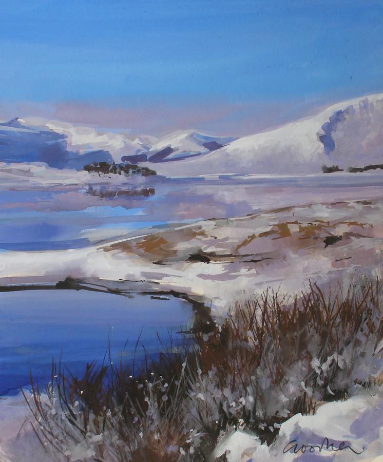 Hard Winter, Loch Cluanie by Gillian Goodheir