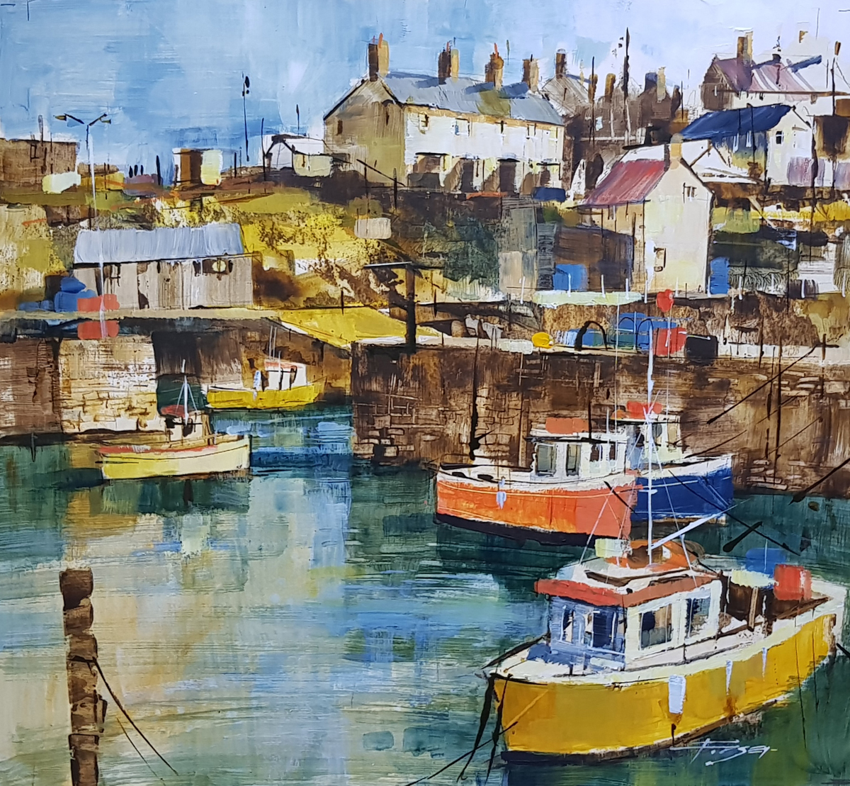 Harbour Entrance Portsoy CHRIS FORSEY