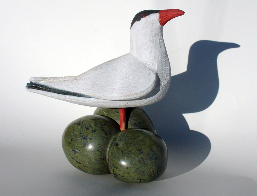 Tern ceramic sculpture by Illona Morrice