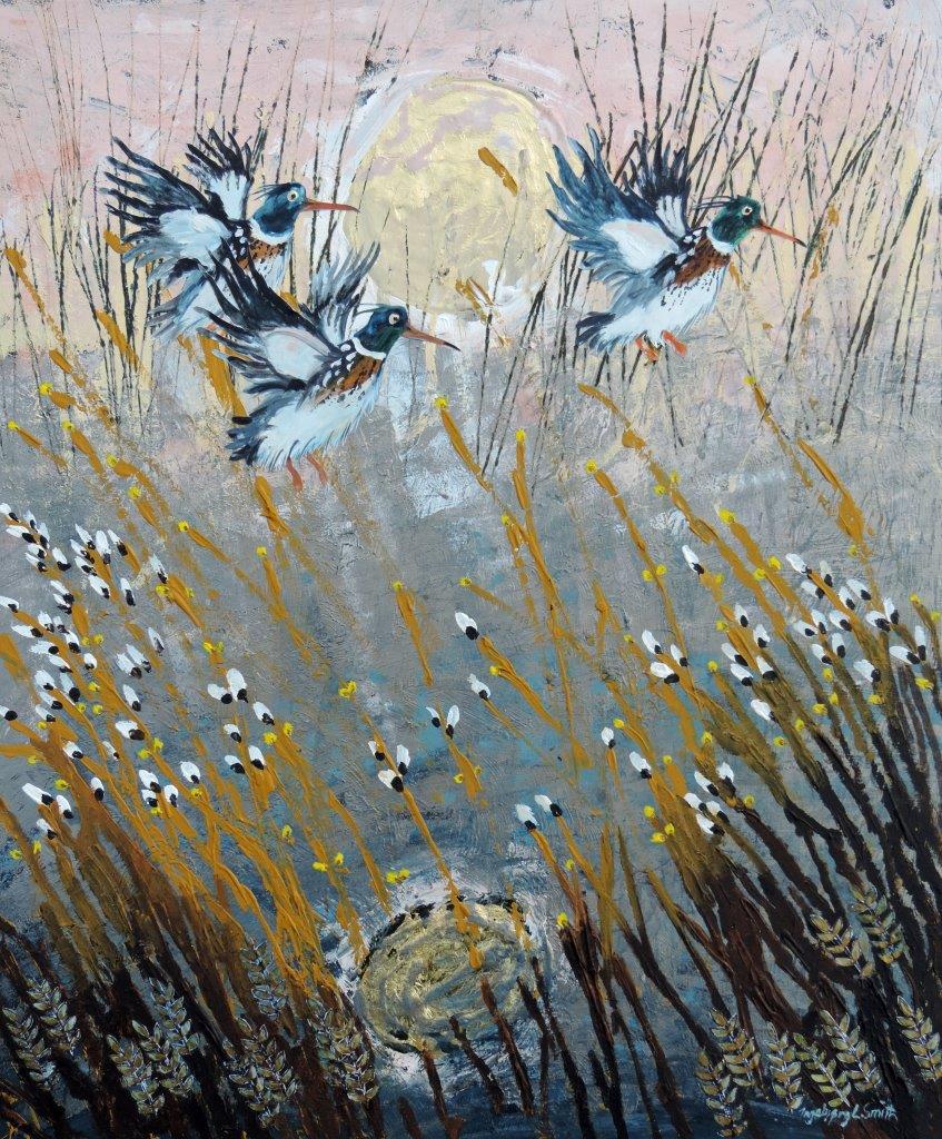 Willow River Mergansers by INGEBJORG SMITH