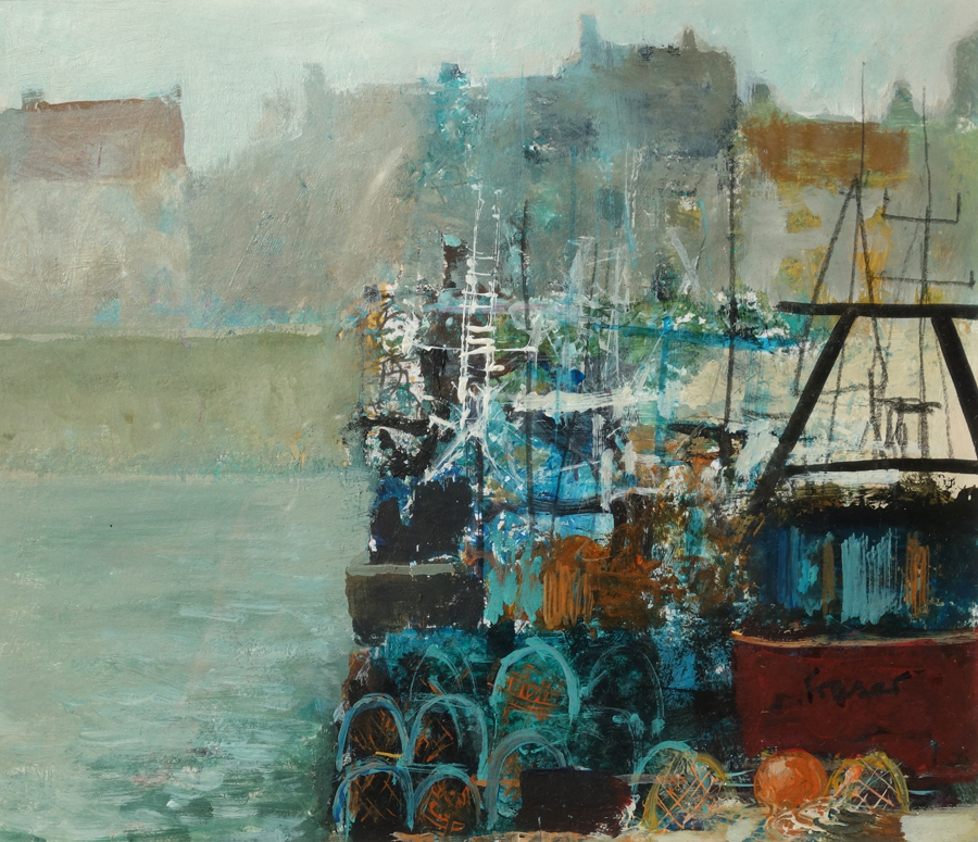Creels and Buoys by James Fraser RSW