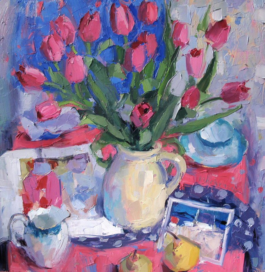 Still Life with Pink Tulips JENNIFER MACKENZIE