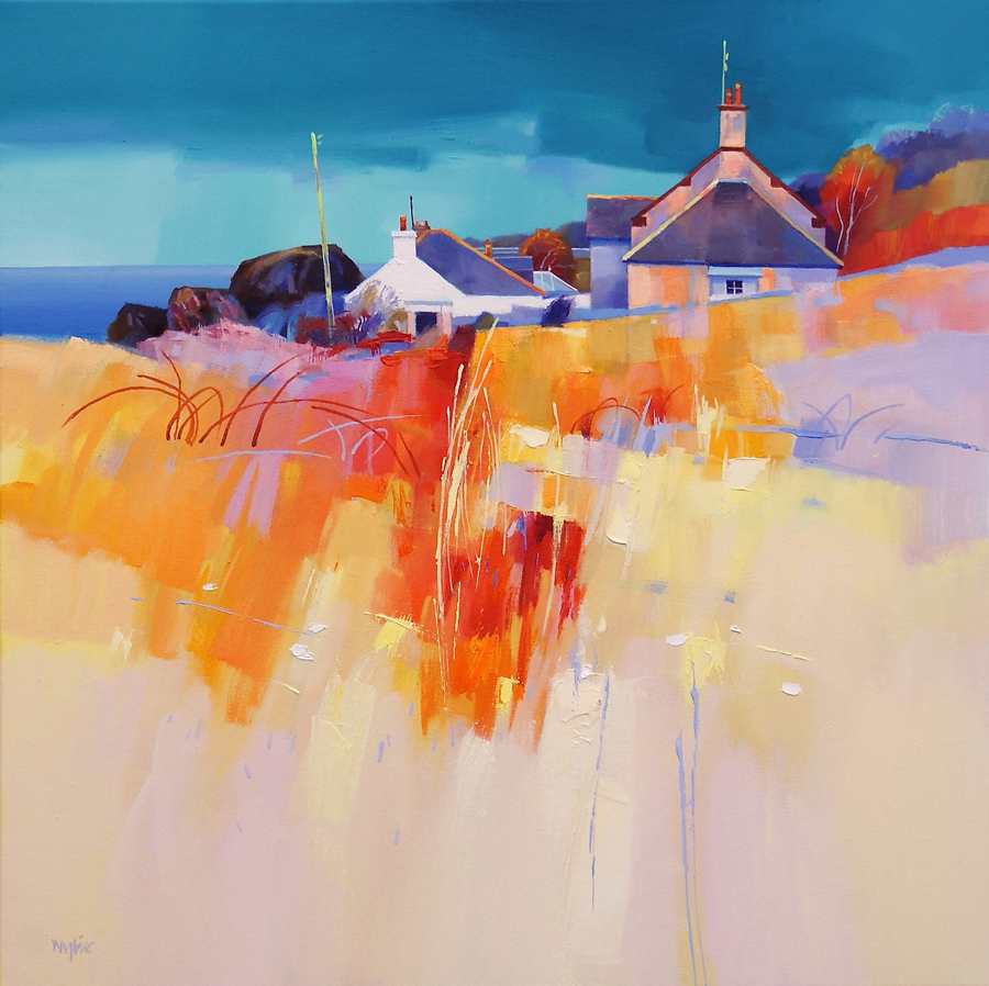 Dunure Patterns — oil painting by Jim Wylie