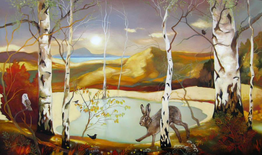 Birds and birches by Lesley McLaren