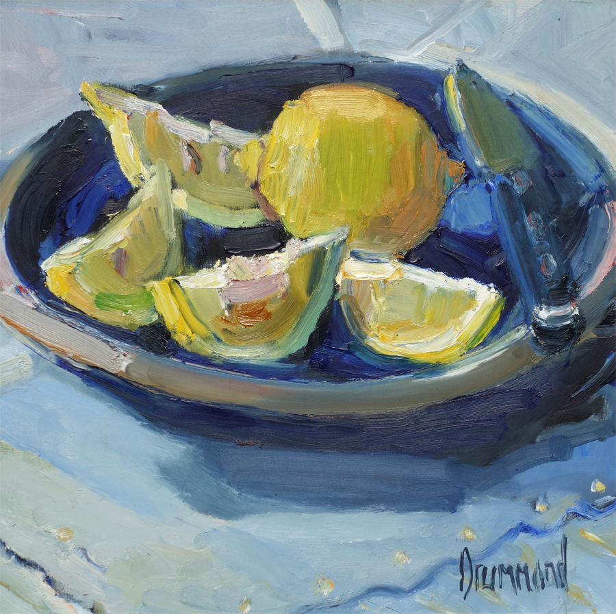 Lemon — original oil painting by MARION DRUMMOND