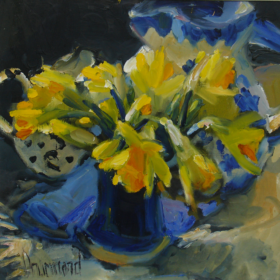 Springtime — oil painting by Marion Drummond