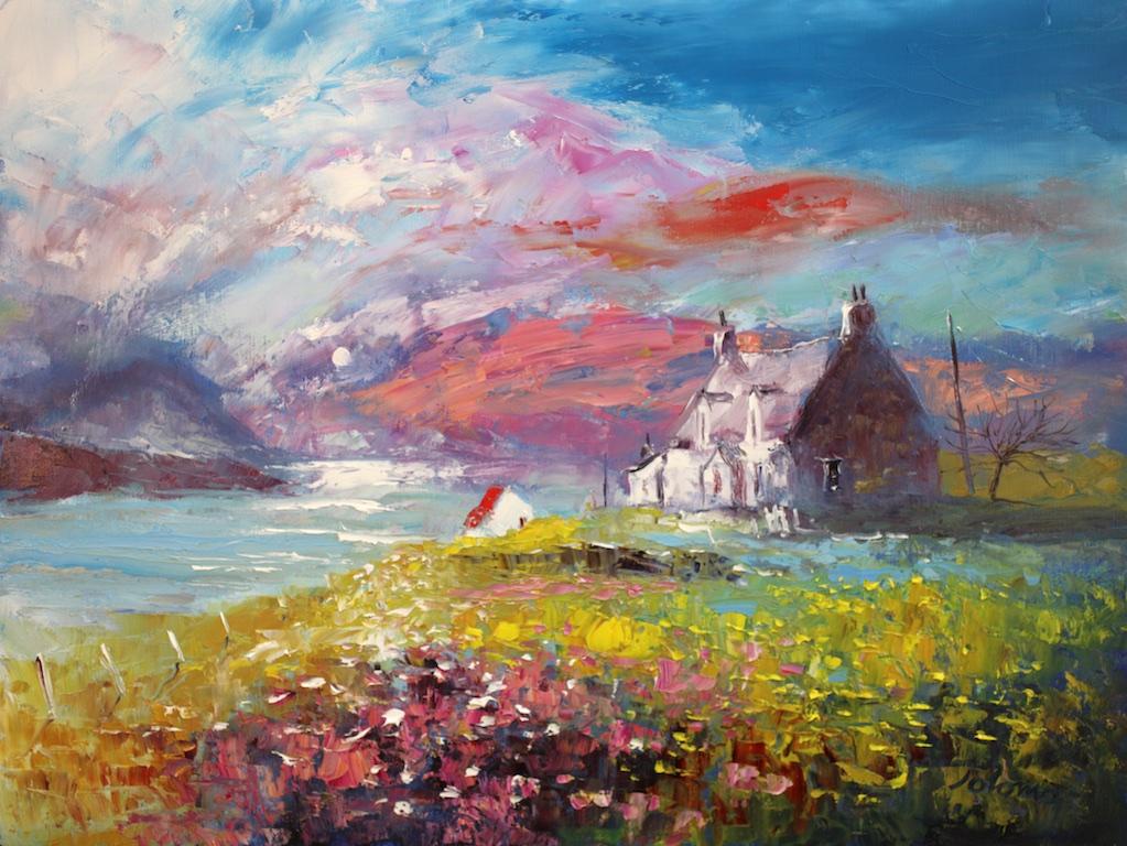 Morning Mist Arivruach, Isle of Lewis by John Lowrie Morrison (Jolomo)